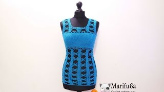 getlinkyoutube.com-How to crochet easy summer top by marifu6a free pattern  para verano video tutorial