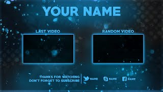 2D Outro Template PSD (Photoshop) | New 2016