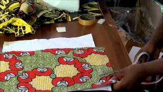 getlinkyoutube.com-How to make an envelope clutch with ankara or African print accents