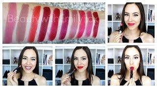 getlinkyoutube.com-Rimmel Lasting Finish Lipstick by Kate Moss +Lip swatches
