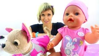 "getlinkyoutube.com-Куклы для девочек. Видео для детей ""Как Мама"". Собачка ChiChiLove и кукла Baby Born"