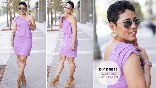 getlinkyoutube.com-DIY Tutorial: Make A Dress With Two T-Shirts
