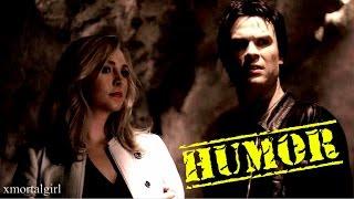 getlinkyoutube.com-Damon and Caroline | HUMOR part 2