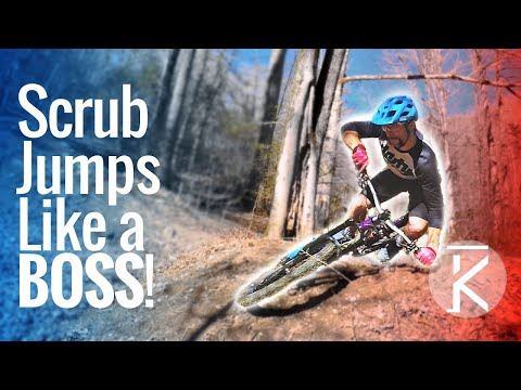 Learn how to scrub jumps on a mountain bike!
