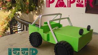 getlinkyoutube.com-How to Make a paper Jeep - Paper Car - Easy Tutorial - toy for kids story game - sdik rof