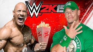 getlinkyoutube.com-WWE 2K15 NGAKAK ABIS!! The Rock Jualan Popcorn! BWAHAHAHA