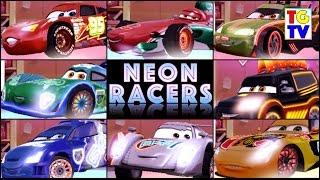 getlinkyoutube.com-Disney Pixar Cars Lightning McQueen NEON Racers | Cars Fast as Lightning