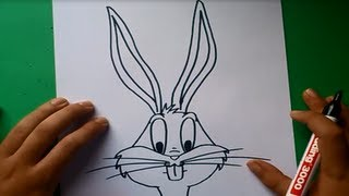 getlinkyoutube.com-Como dibujar a Bugs Bunny paso a paso - Looney Tunes | How to draw Bugs Bunny - Looney Tunes