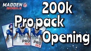 getlinkyoutube.com-200K Pro Pack Opening | ELITE Pulls | Madden Mobile 16