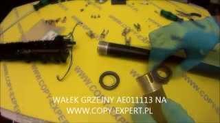 getlinkyoutube.com-RICOH AFICIO MP1600 MP2000 AF2015 wymiana wałków grzejnych separtorów termistora