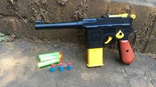 "getlinkyoutube.com-Review: ""Nazi"" Nerf Gun, The Mauser C96 Toy Replica."