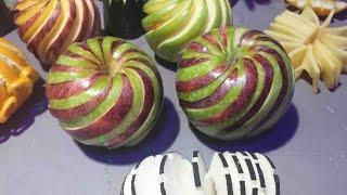 getlinkyoutube.com-Carving apple spiral, Sculpter une pomme en spirale