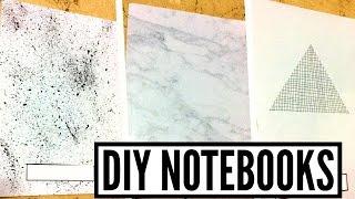 getlinkyoutube.com-DIY Black & White Tumblr Notebooks | Geometric, Marble And Paint Splash