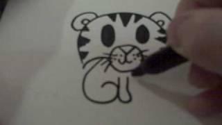 getlinkyoutube.com-How to Draw a Cartoon Tiger