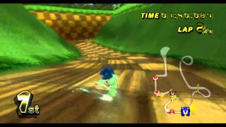 Sonic in Mario Kart WII mod