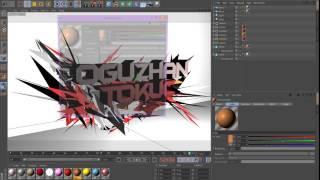 getlinkyoutube.com-Cinema 4D - Armar Shatter 3D Yazı Yazma