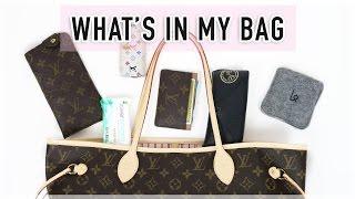 getlinkyoutube.com-What's In My Bag | Louis Vuitton Neverfull MM Rose Ballerine