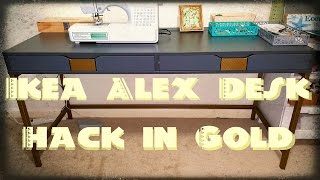 getlinkyoutube.com-DIY: Ikea Alex Desk Hack