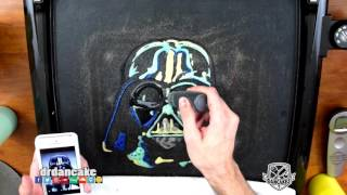 getlinkyoutube.com-Darth Vader (Star Wars) Pancake Art
