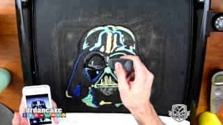 getlinkyoutube.com-Darth Vader (Star Wars) Pancake Art