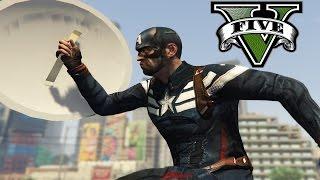 getlinkyoutube.com-GTA V Mods - [Captain America FAP ฮา] - กัปตันถังขยะชักว่าว