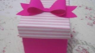 getlinkyoutube.com-Como fazer caixinha para presente de papelão