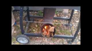getlinkyoutube.com-Rocket Stove smoking pork ribs