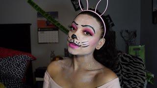 getlinkyoutube.com-Bunny Makeup Halloween Tutorial