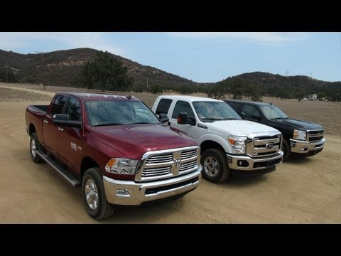2014 Ram 2500 Hd Vs Ford F-250 Vs Chevy Silverado 2500 0-60
