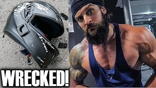 ACCIDENTS HAPPEN!! New Bike & Pushing Your Limits | SPEED WORKOUT | Squats Chest & Arms!