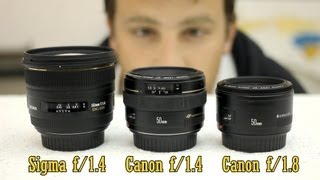 getlinkyoutube.com-50mm lens battle: Sigma f/1.4, Canon f/1.4, Canon f/1.8