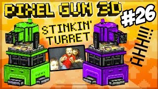 getlinkyoutube.com-Mike & Dad play Pixel Gun 3D! Stinkin' Turret, No One Likes You!!!!!!!!!! (Face Cam Part 26)