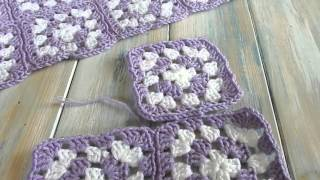 getlinkyoutube.com-How I joined my Granny Squares - version 2