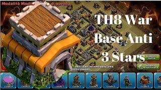 getlinkyoutube.com-TH8 War Base Anti 3 Stars! Anti Dragons - GoWiPe - Hogs + Replays || Clash of Clans 2015