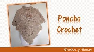 getlinkyoutube.com-Poncho estilo V tejido a crochet (ganchillo)