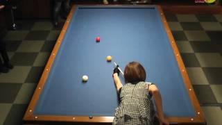 getlinkyoutube.com-Orie Hida VS Ryouko Kobayashi  [3cushion exhibition match]