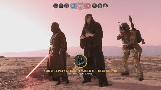 getlinkyoutube.com-Star Wars Battlefront All Villains Gameplay (Boba Fett, Emperor Palpatine and Darth Vader)