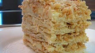 getlinkyoutube.com-Слоеное пирожное с кремом видео рецепт.Книга о вкусной и здоровой пище