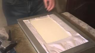 getlinkyoutube.com-Мастер класс по оформлению вышивки бисером в рамку. Ч 2