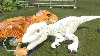 getlinkyoutube.com-Lego Jurassic World - ALL DINOSAURS UNLOCKED & USED! ( Free Roam GamePlay )