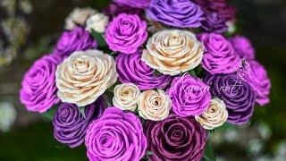 getlinkyoutube.com-Paper Roses Tutorial