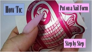 getlinkyoutube.com-How to put on a Nail form | Step by Step | Stiletto Shape | NailsofNorway