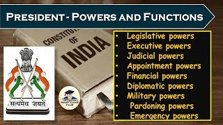 L-43-President - Powers and functions (Laxmikanth, Chapter-17- Indian Polity)(Part-2) By VeeR