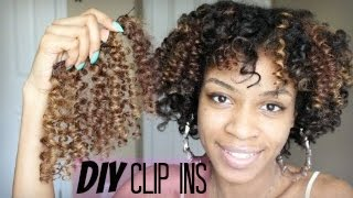 How to Make DIY curly clip in hair extensions for Natural Hair