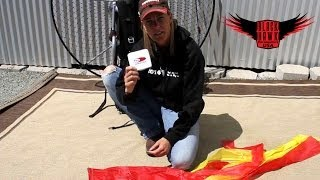 getlinkyoutube.com-Paramotor Tips & Tricks: How to Repair a Hole in Your Paraglider or Paramotor Wing