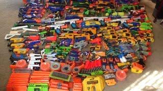 137 Gun Nerf Arsenal—A Sea of Nerf