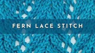 getlinkyoutube.com-Fern Lace Stitch (English Style)