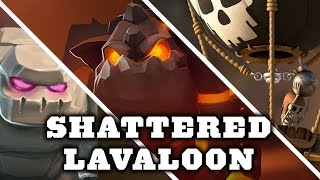 getlinkyoutube.com-TH9 War Strategy | Shattered Lavaloon Attack | Clash Of Clans