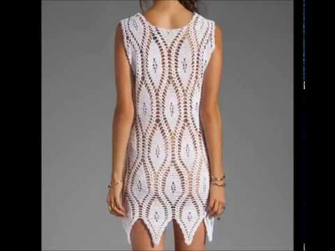 crochet dress free pattern,- Ganchillo Vestido - Vestido de crochê
