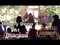 Johnny Depp At Disneyland As Captain Jack Sparrow   On Pirates   Dream Suite View 4-26-17